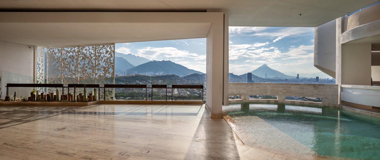 house pool with Mountain View of Monterrey