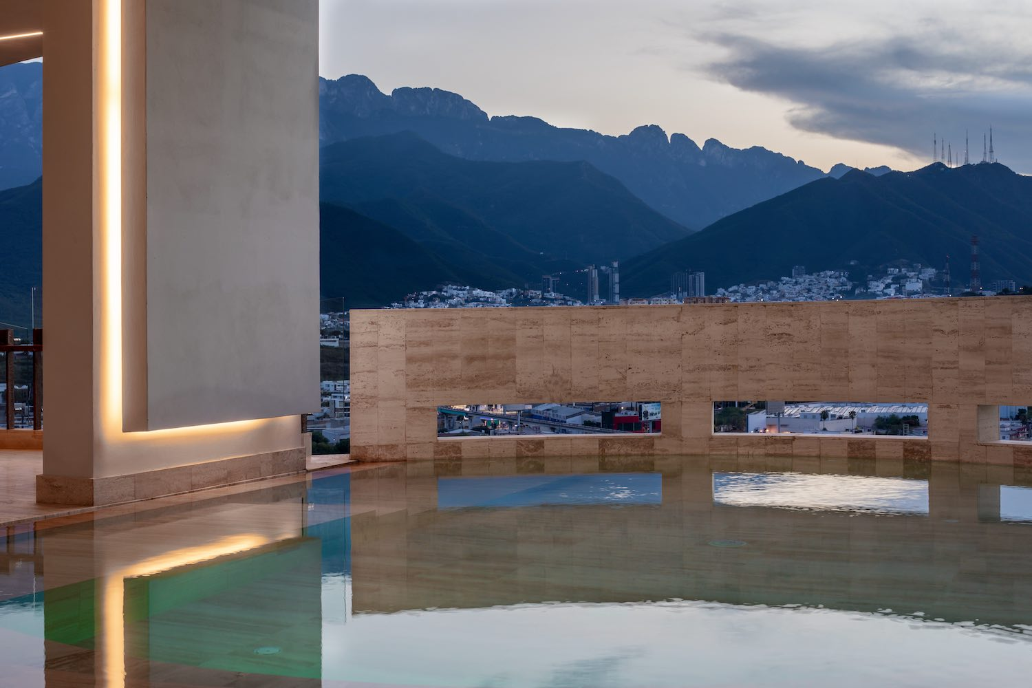 house pool with Mountain View