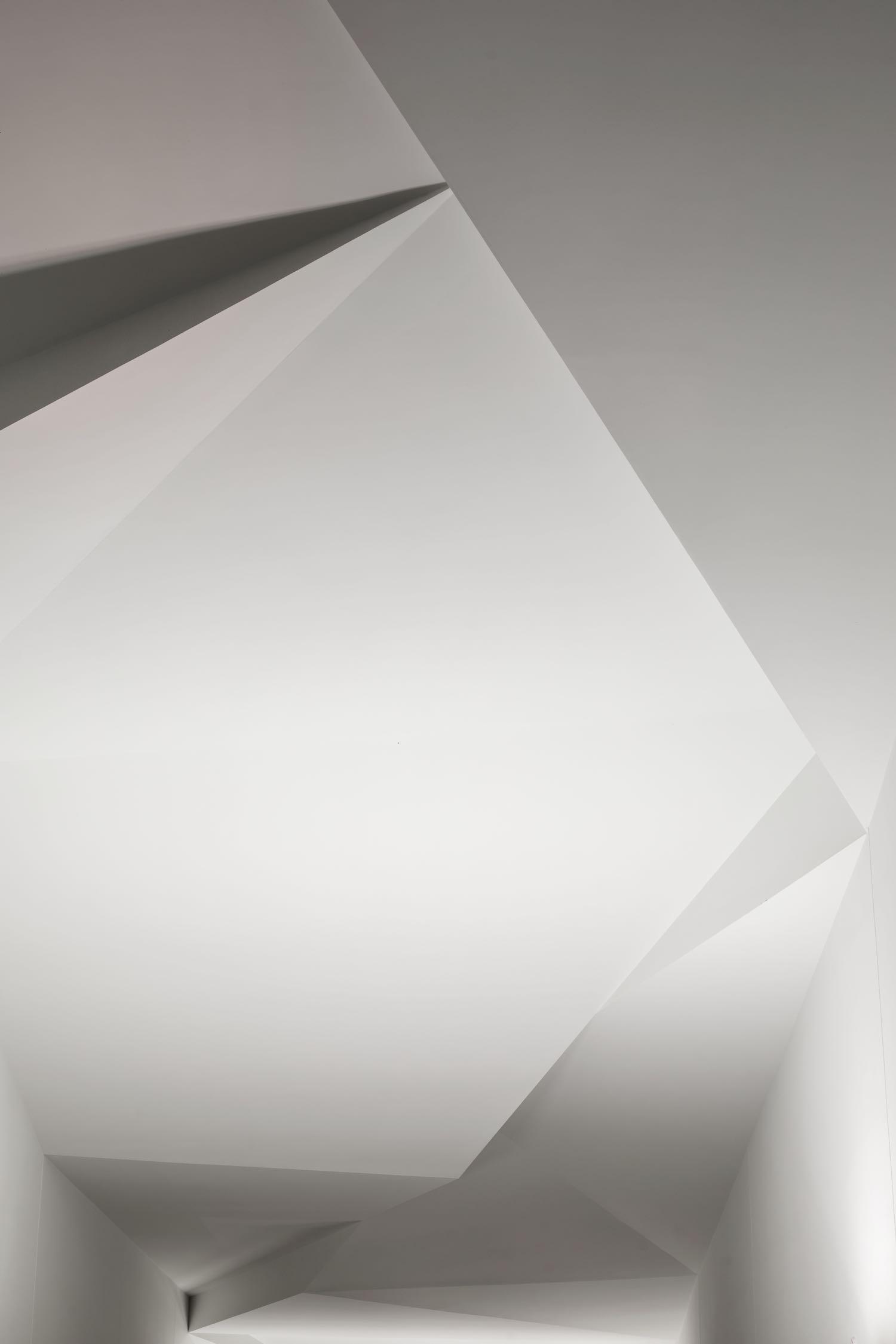 triangular white ceiling