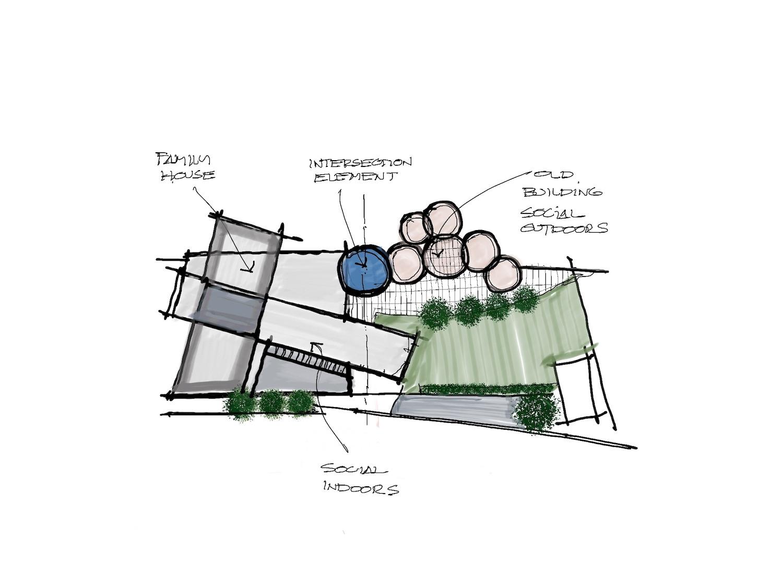 architectural sketch concept