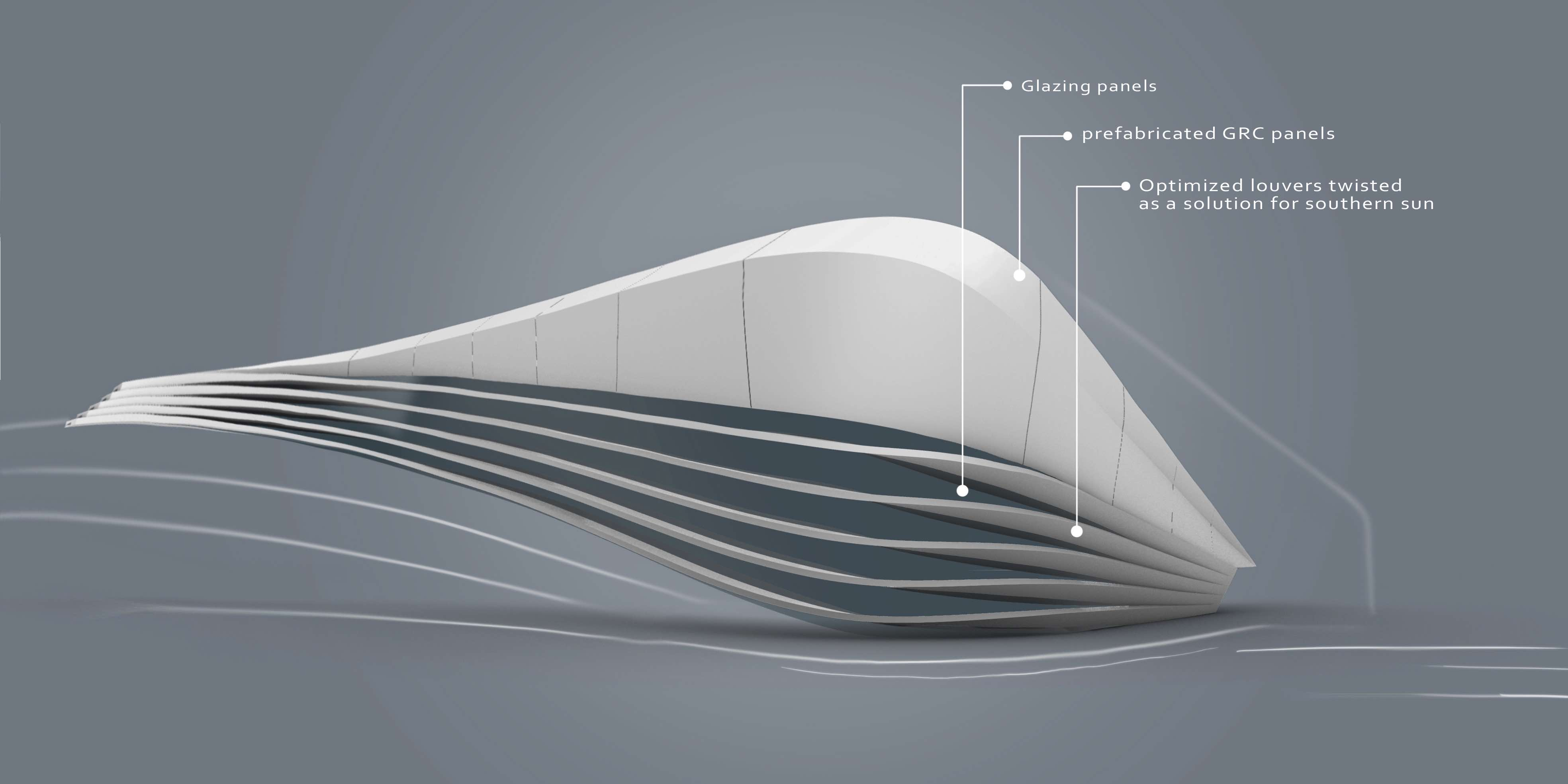 Salt formation center designed by Ahmed Darwish in Alexandria Egypt