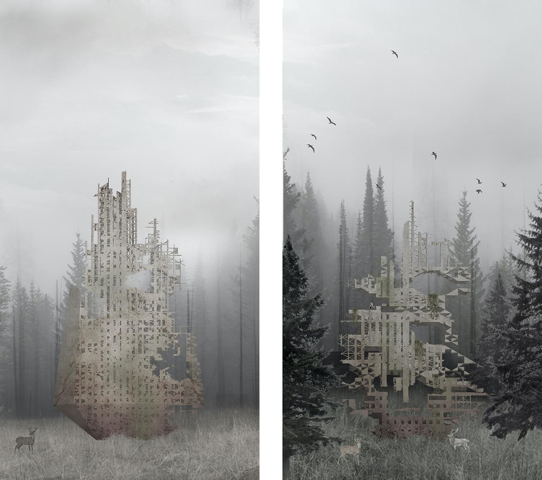 architectural skyscraper rendering image