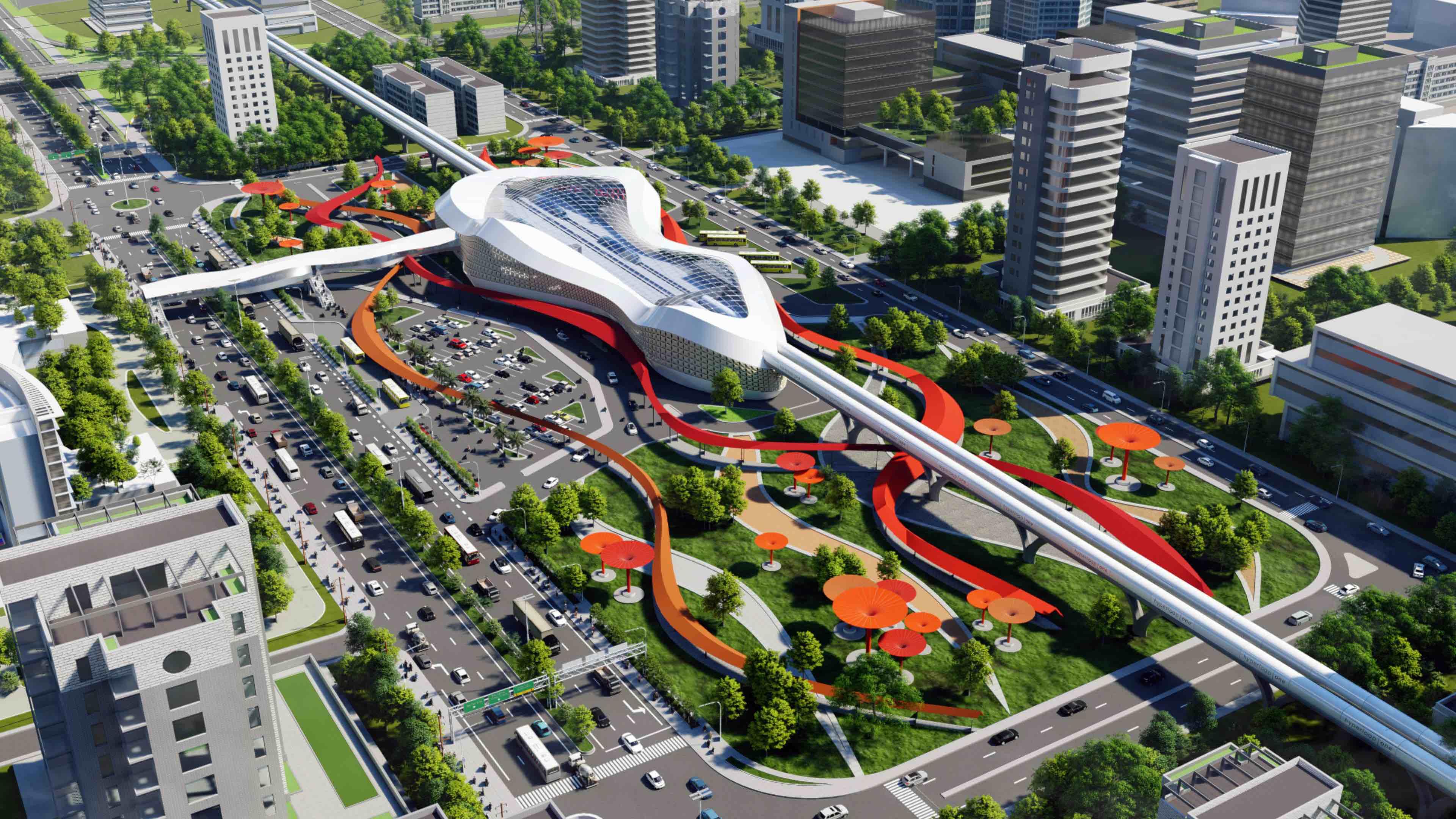 Hyperloop terminal designed by Astin John in Mumbai India