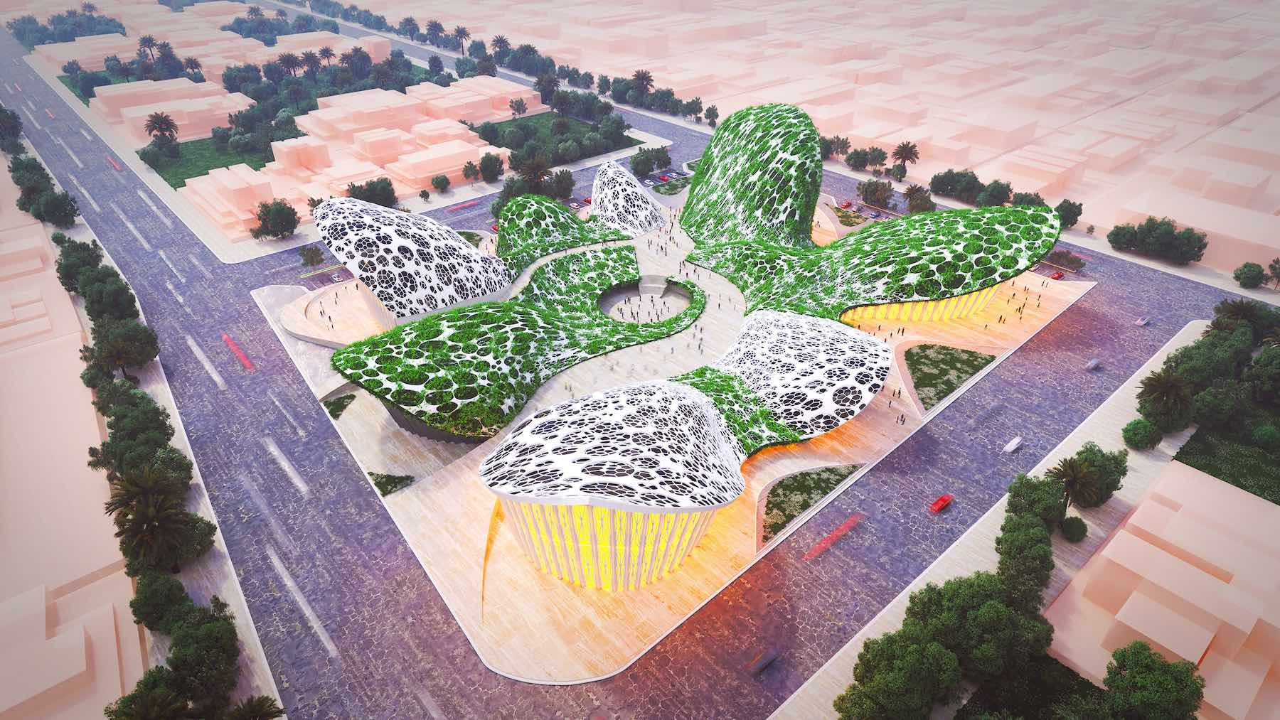 Baghdad Forest & Agricultural Research Center designed by Lana Roshen