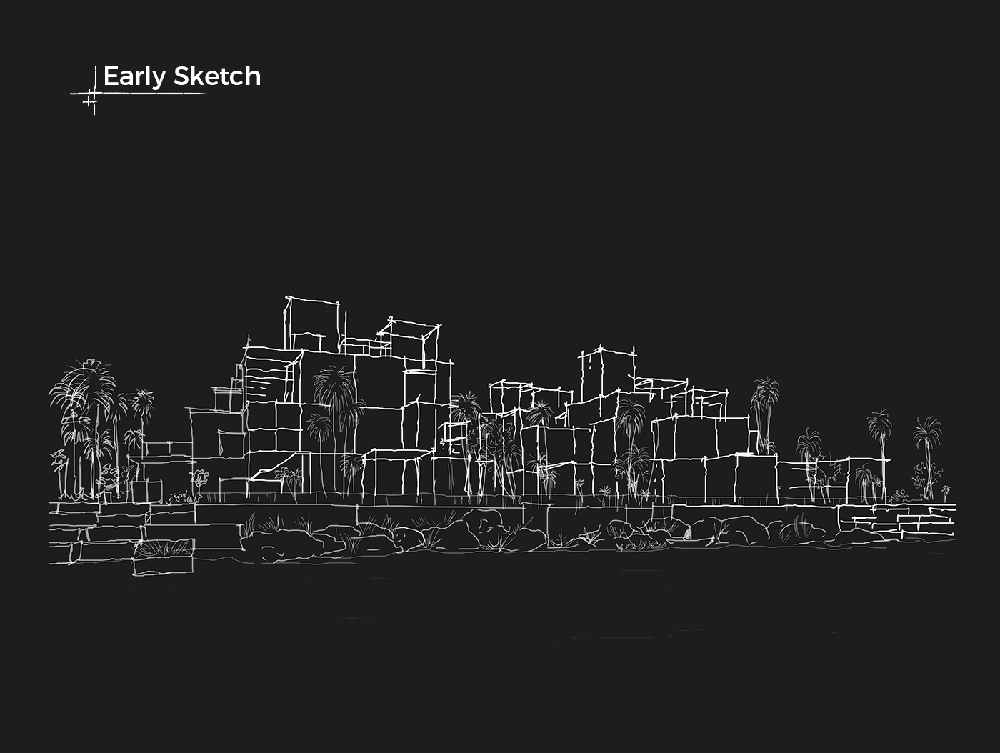 architectural sketch drawing