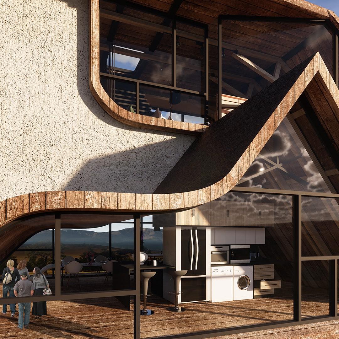villa made of wood