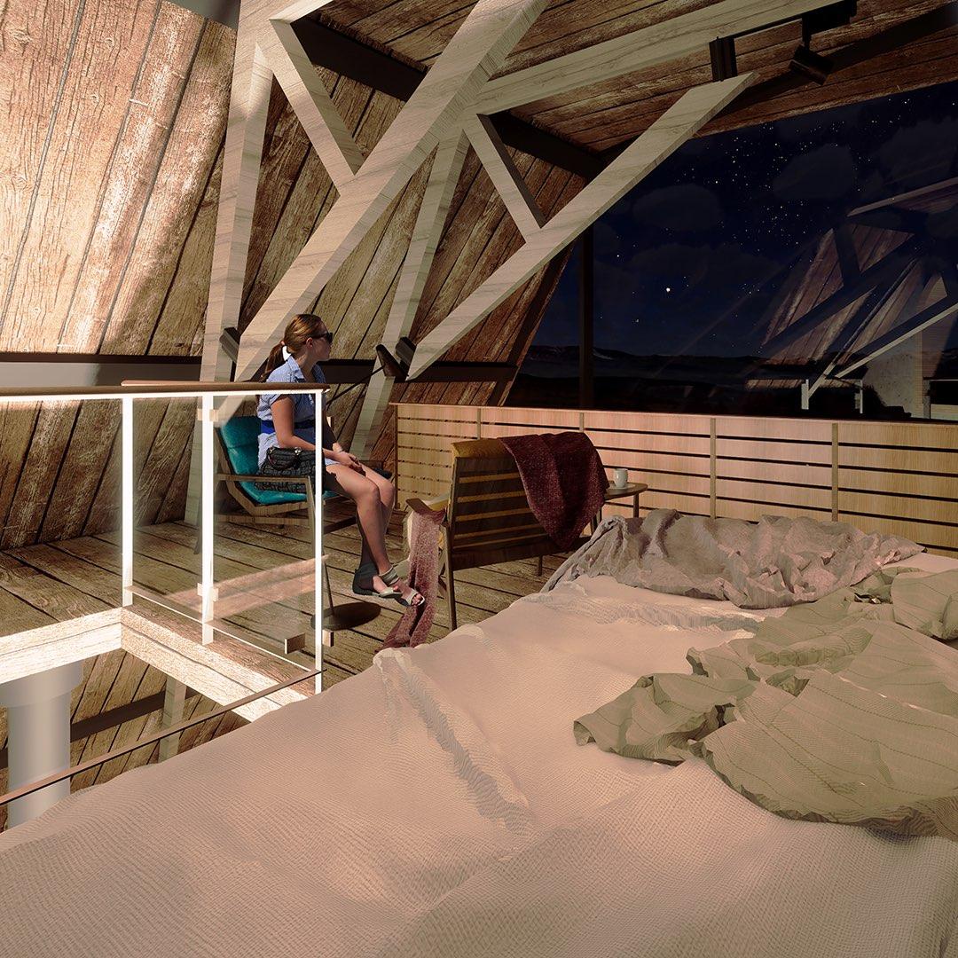 interior design wooden cabin