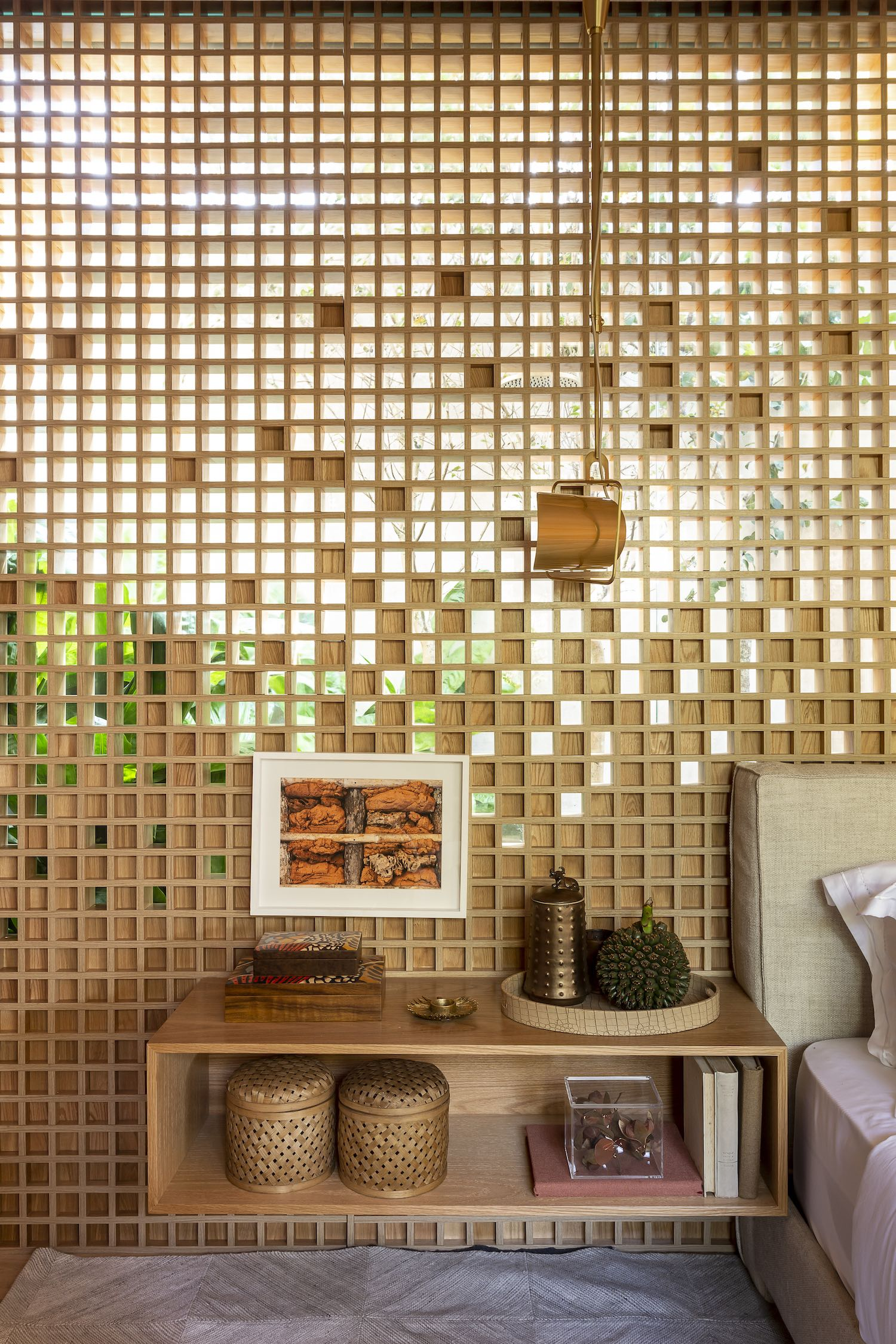 wooden screen wall