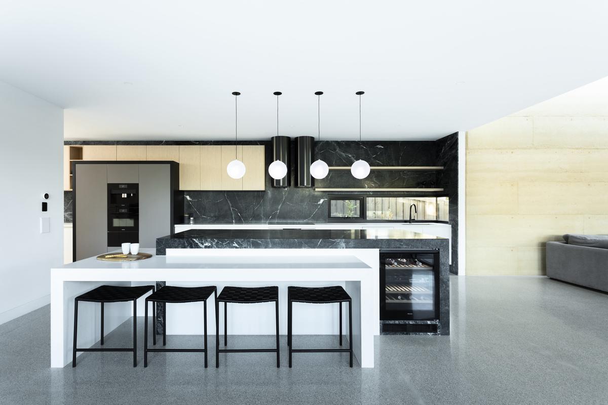 stylish furniture in the kitchen