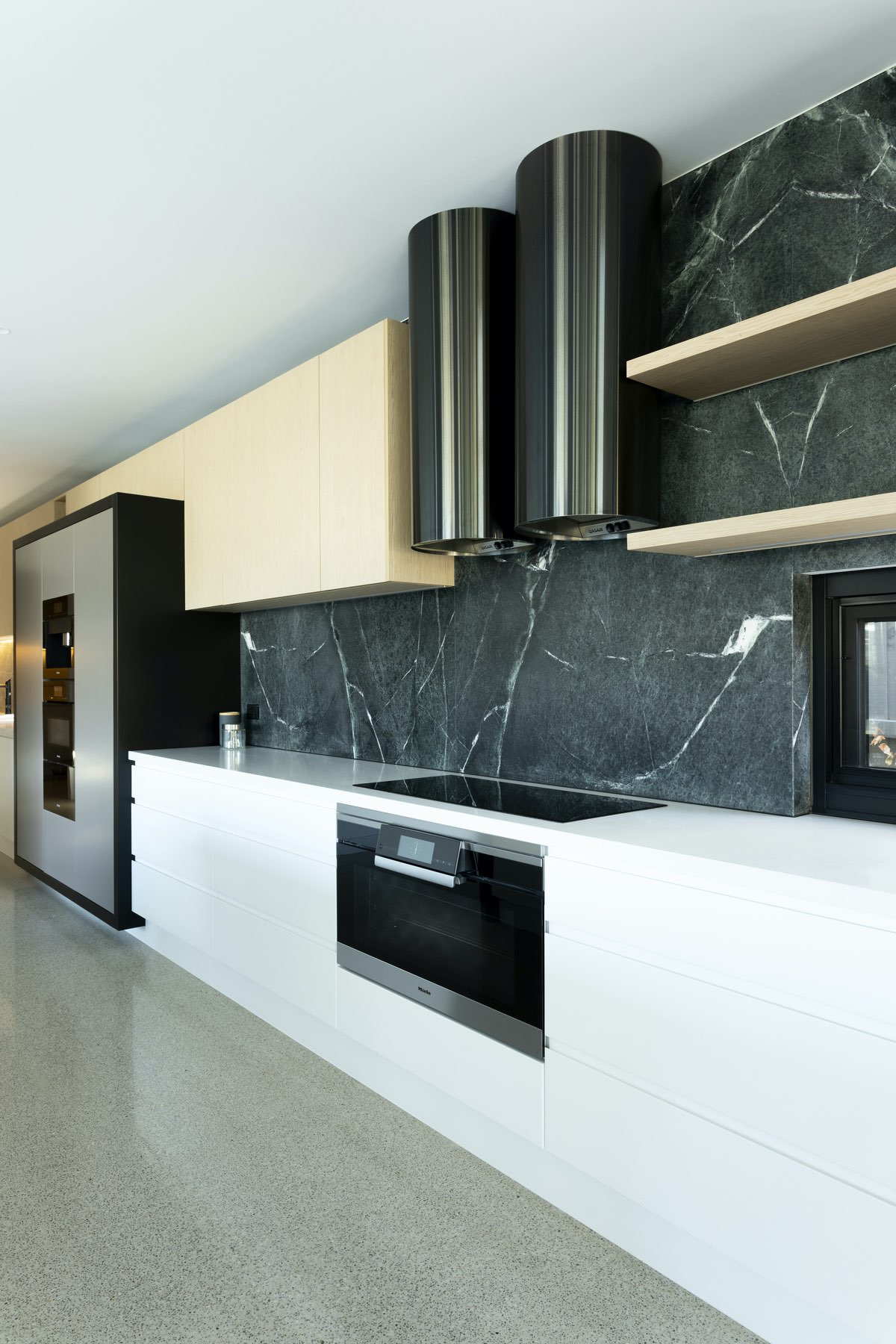 modern electric stove in the kitchen