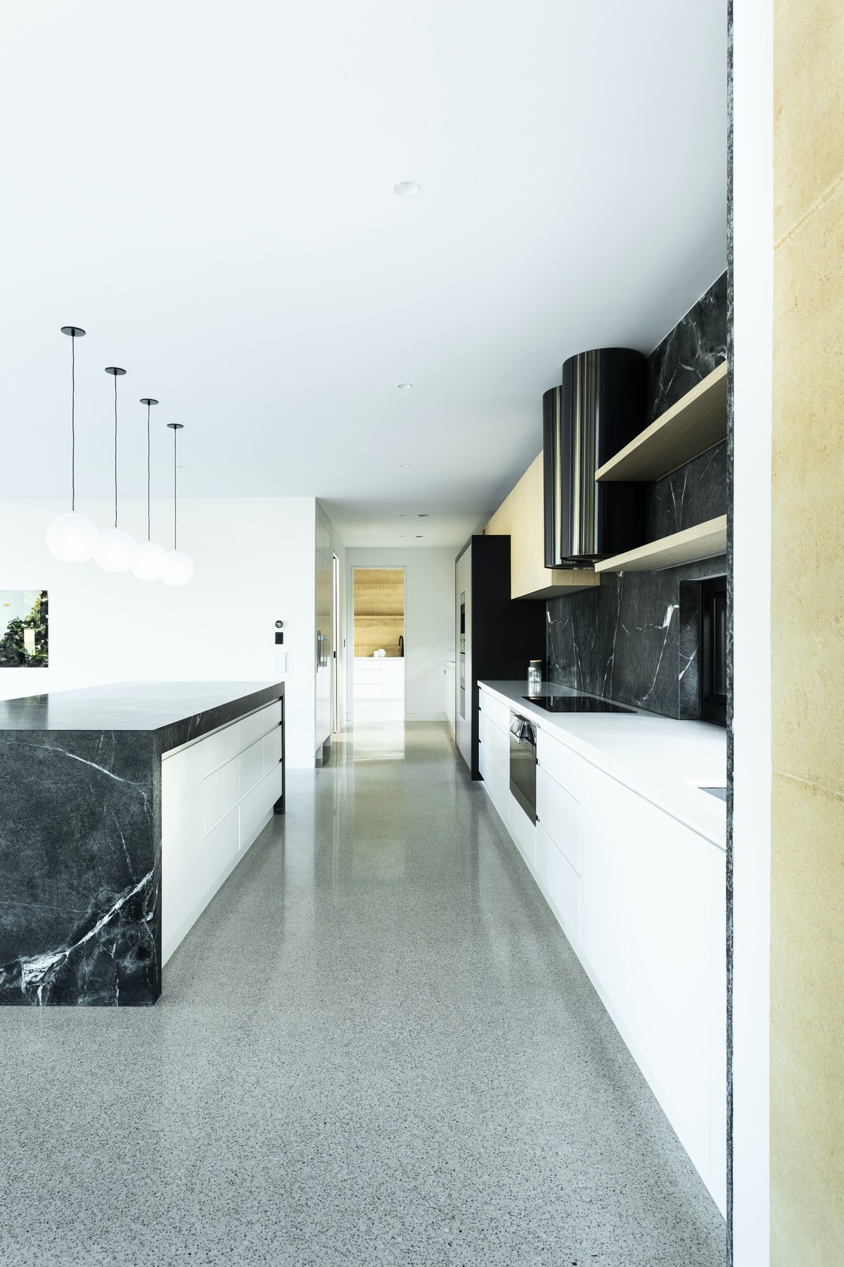 a shiny kitchen with modern design