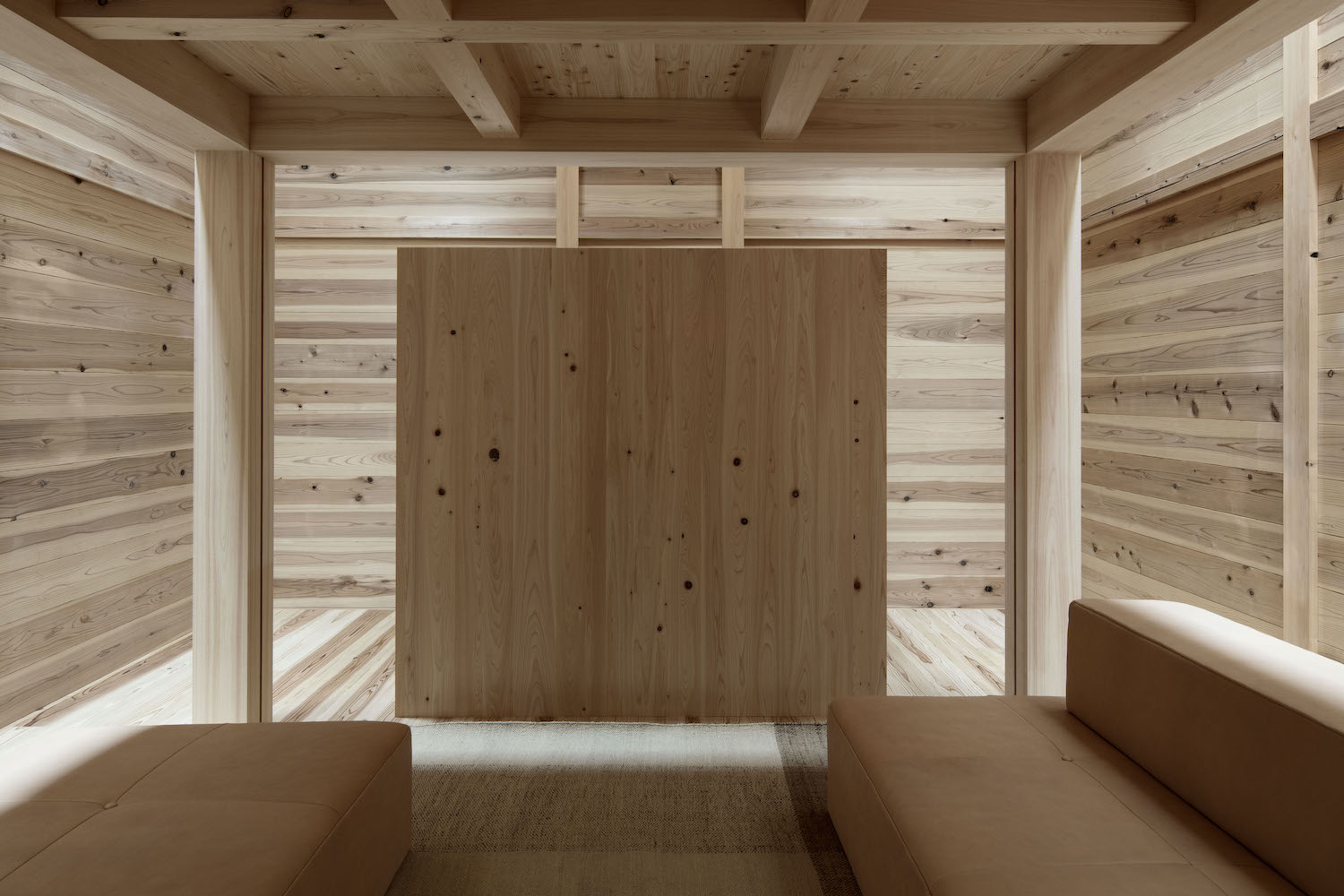 wooden furniture in a wooden room