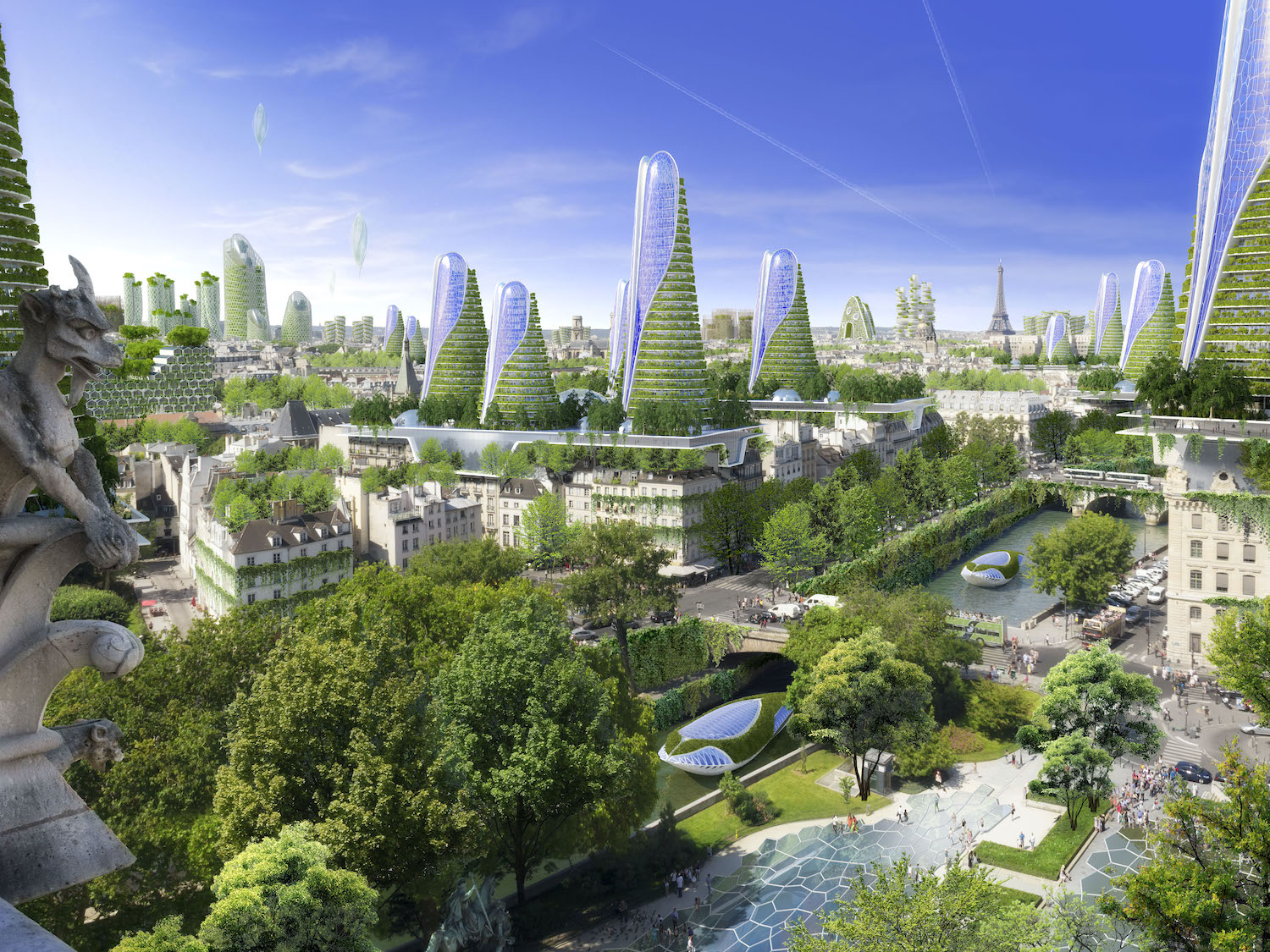 Paris Smart City 2050 by Vincent Callebaut Architectures