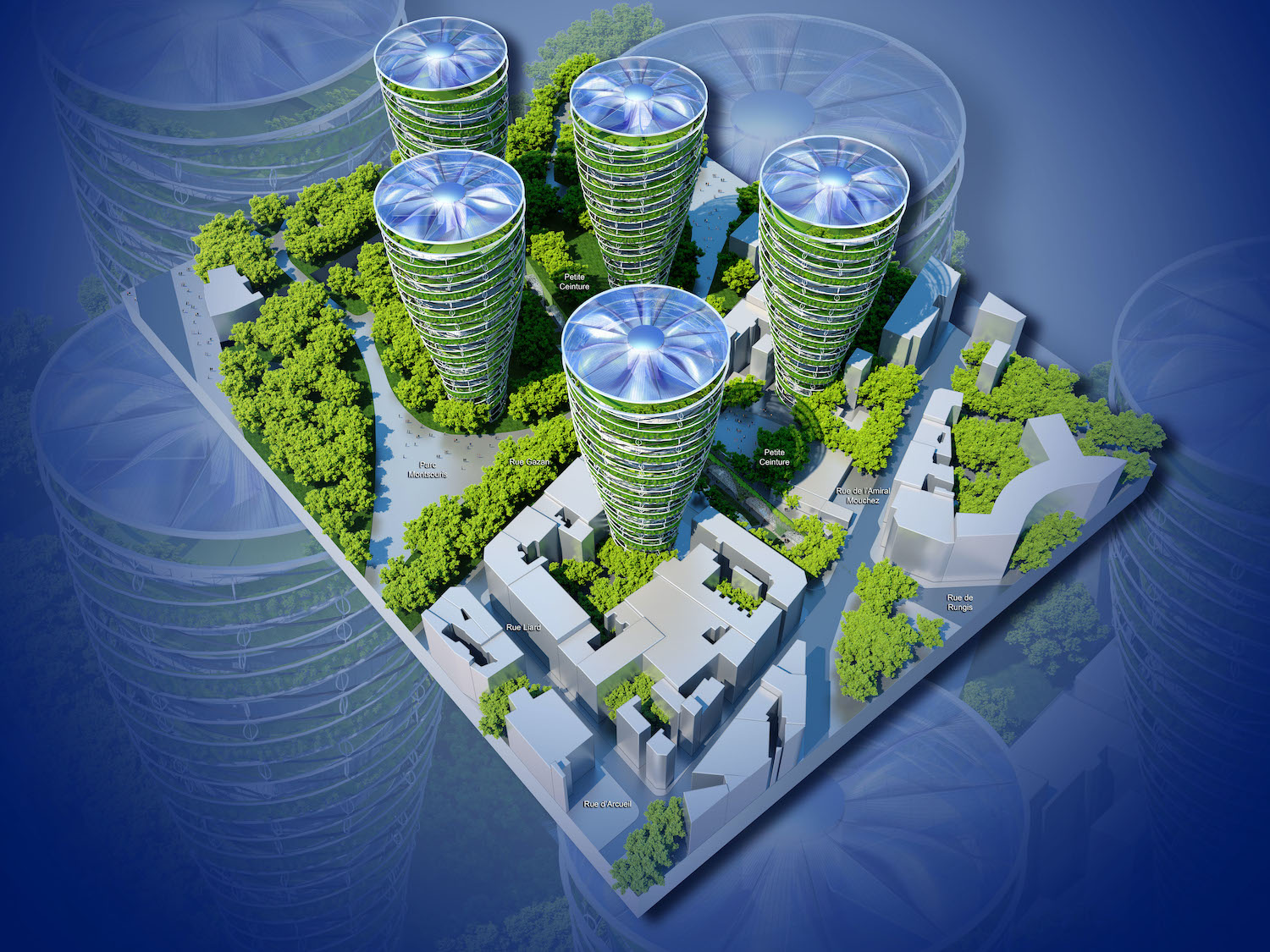 green skyscrapers designed to fight climate change