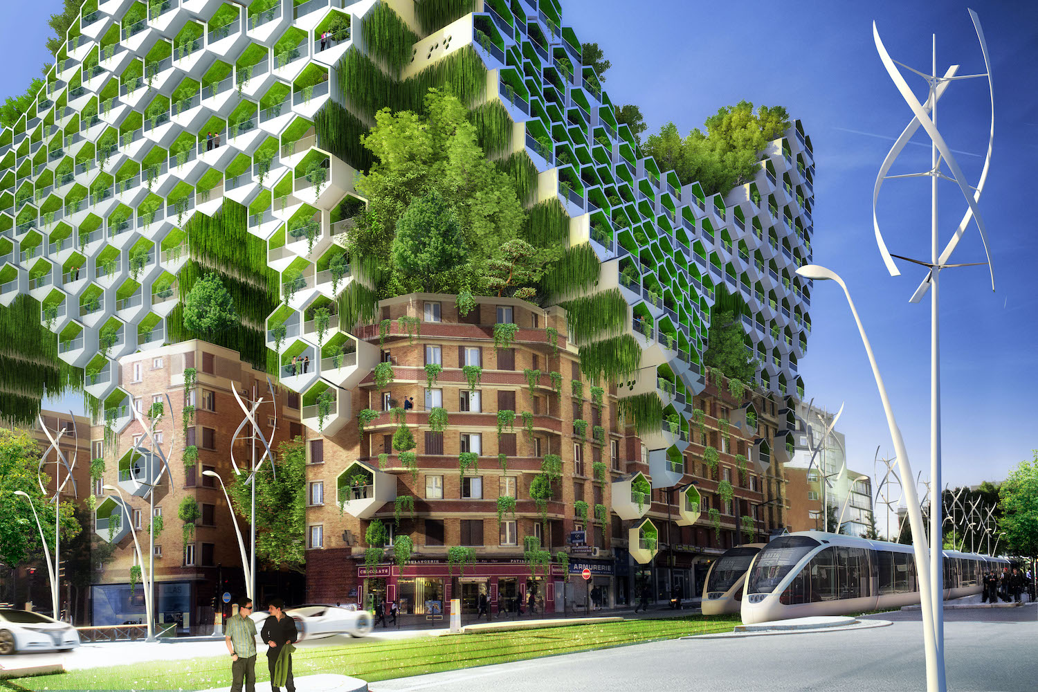 honeycomb green towers