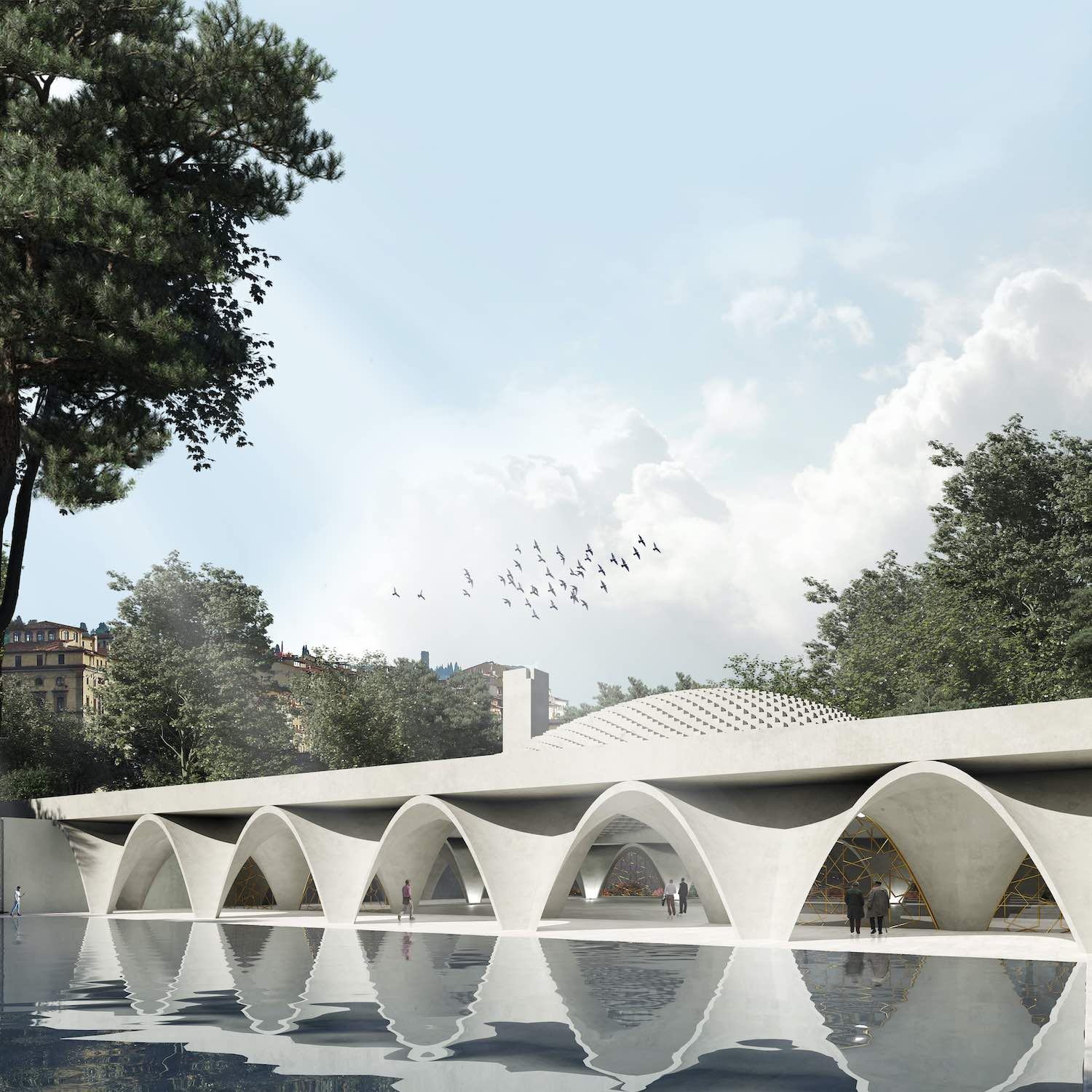 Islamic cultural center in Piedmont, Italy designed by Wafai Architecture in collaboration with Fragomeli and Partners