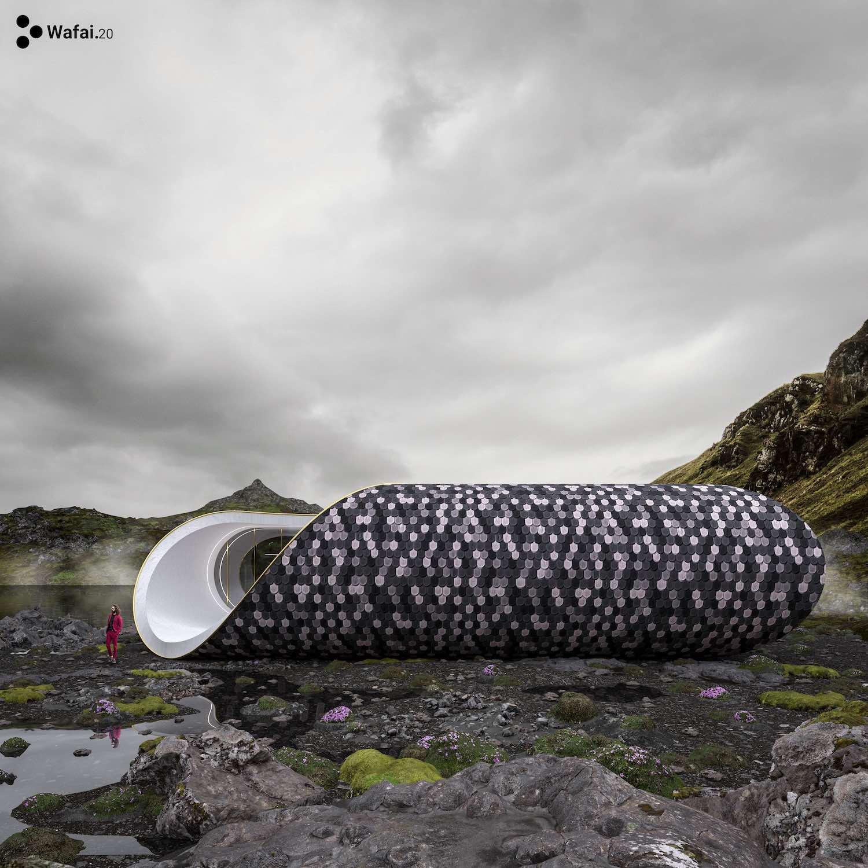 Scandinavian Seashell House by Wafai Architecture