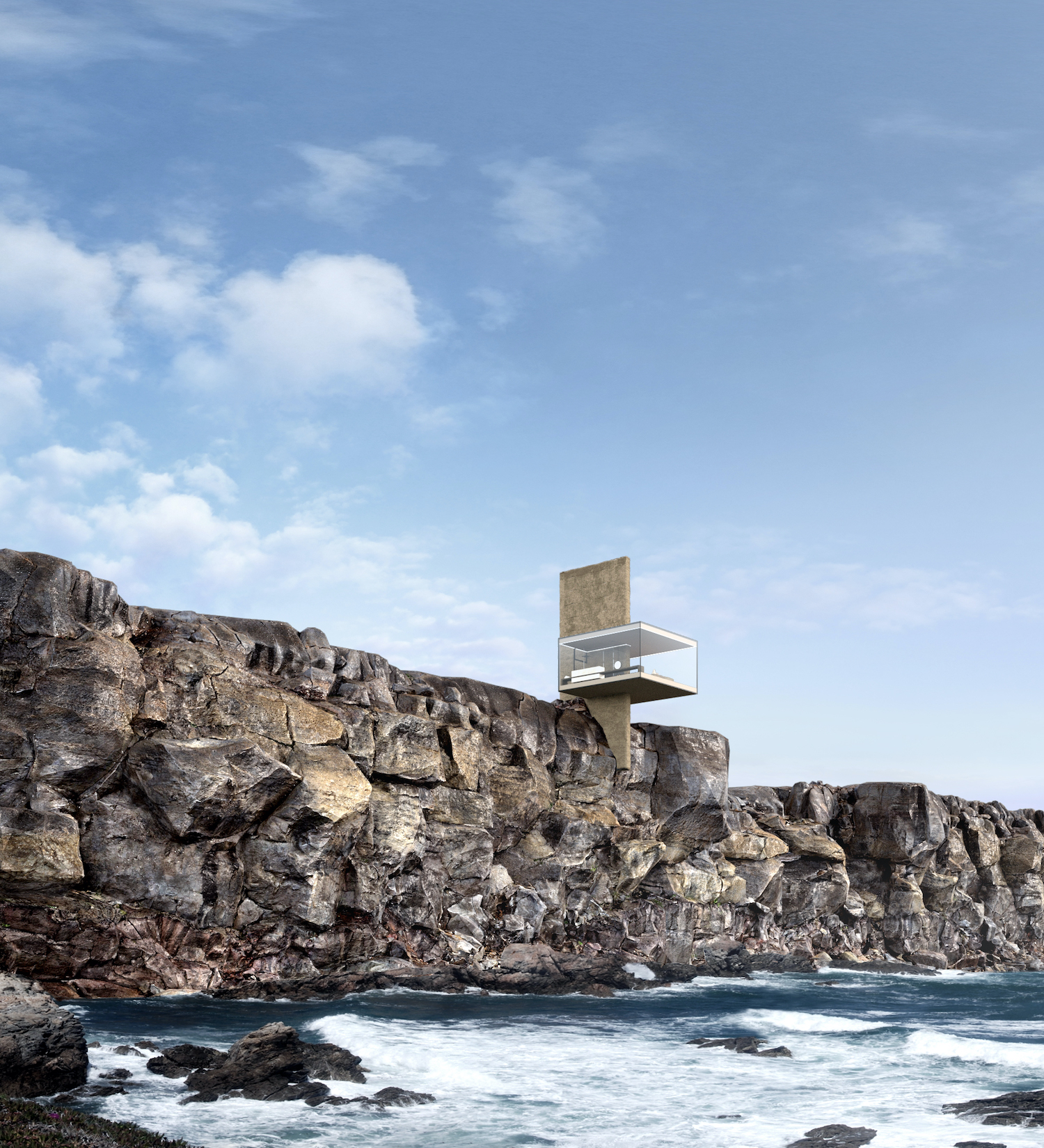 The Air House, A transparent cabin at the edge of the world by Yakusha Design