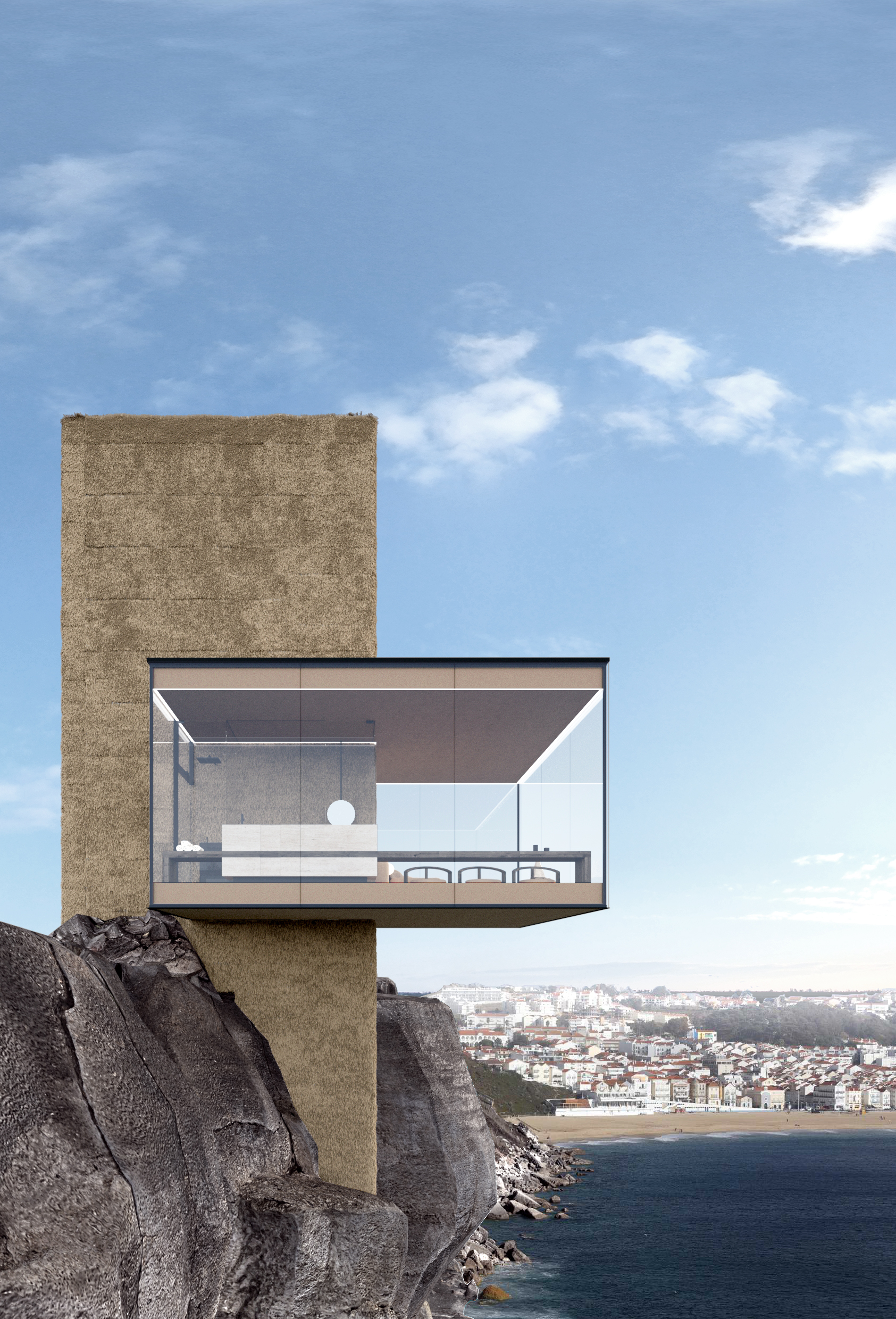 The Air House: A transparent cabin at the edge of the world by Yakusha Design