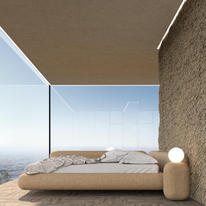 bedroom with window view to Atlantic Ocean