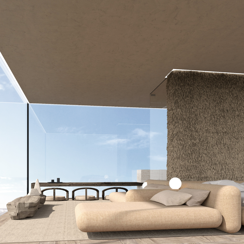 amazing bedroom interior design with spectacular ocean view