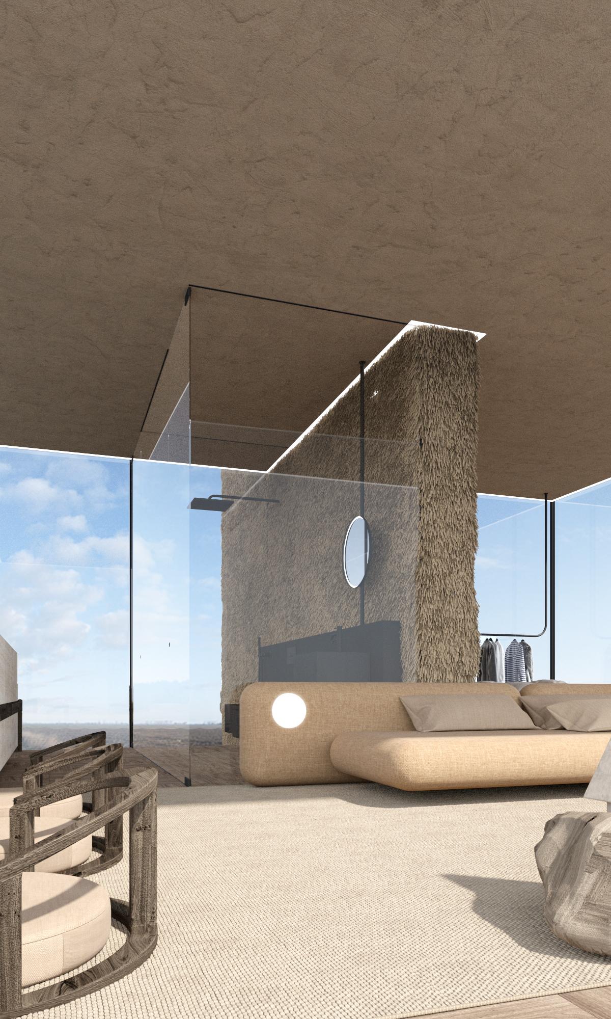sofa design for a cabin house