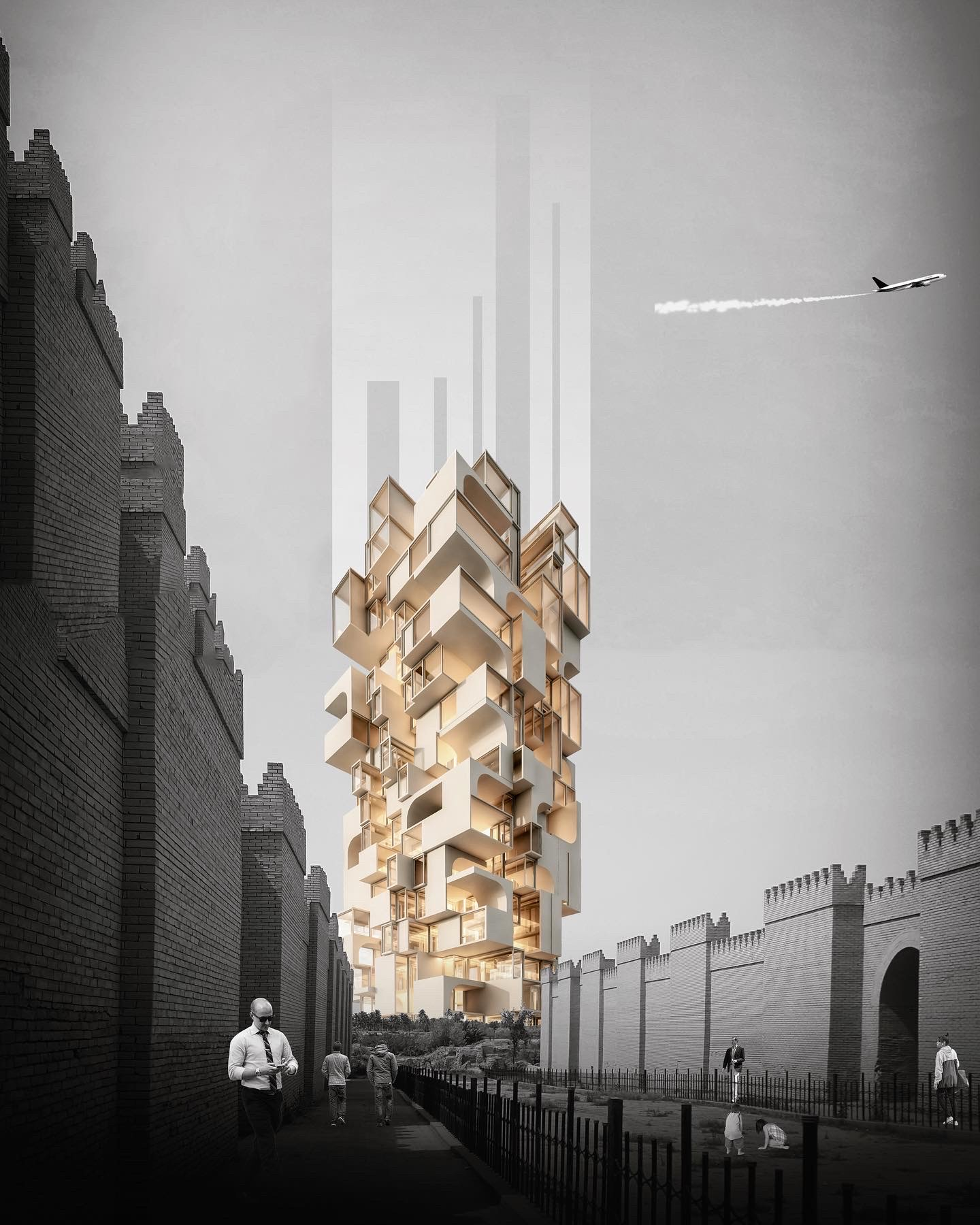rendering image of a tower