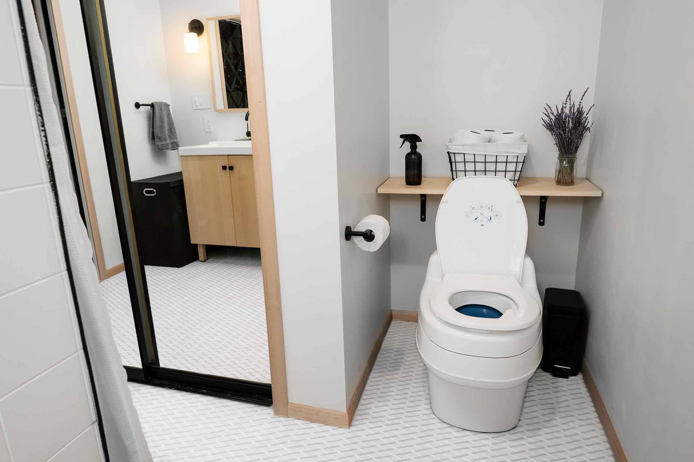 a white toilet