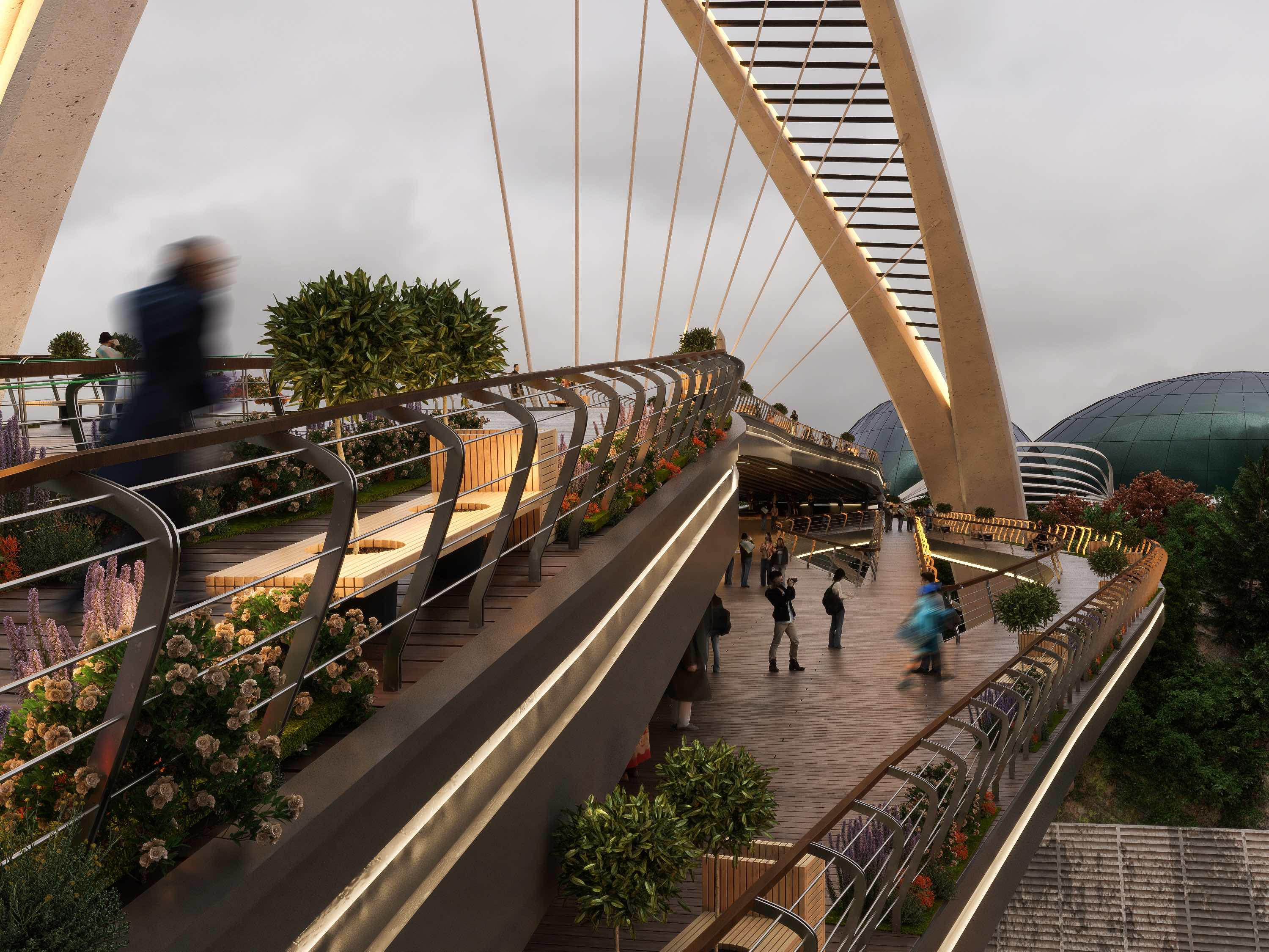 El Goli pedestrian bridge designed by Farho