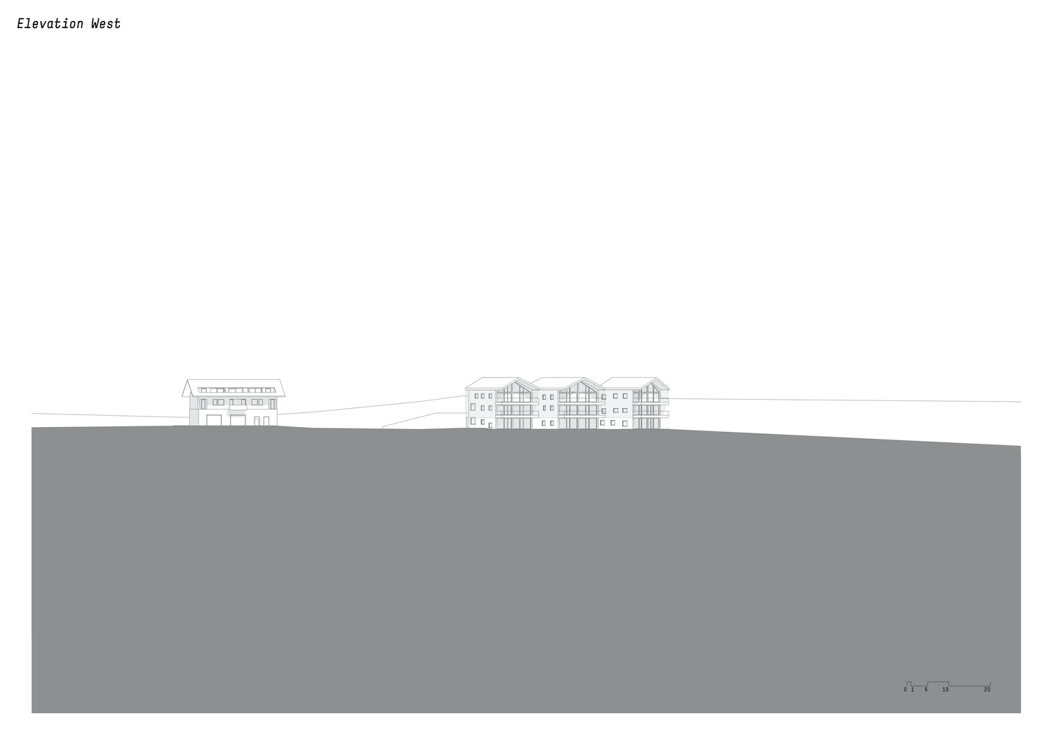 West Elevation drawing